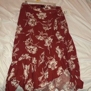 Mid length floral skirt